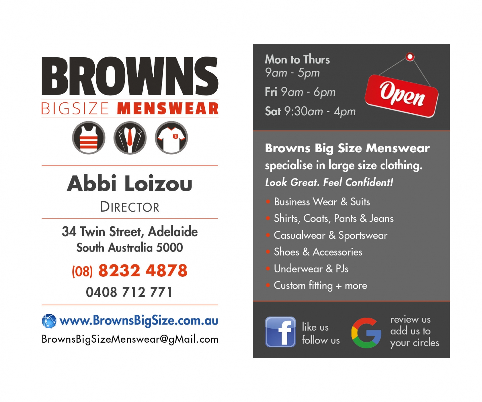 katron creative business cards design printing adelaide