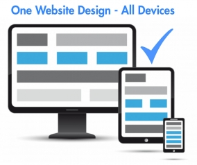 One website - compatible for view an all fixed and mobile web viewing devices.